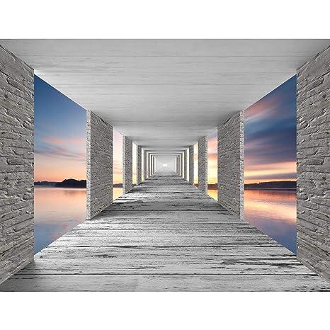 Fototapeten 3D Sonnenuntergang 352 x 250 cm Vlies Wand Tapete Wohnzimmer  Schlafzimmer Büro Flur Dekoration Wandbilder XXL Moderne Wanddeko - 100%  MADE ...
