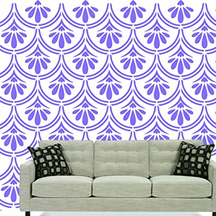 Buy M48-Stencil For Wall Decoration | Beautiful FLORAL Wall