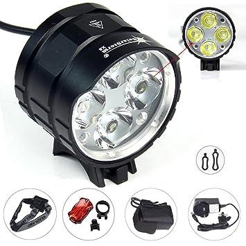 e8323104c21 Elephant Xu®4x CREE XML T6 LED Bike Headlight 4 Modes 3000LM Light + Battery