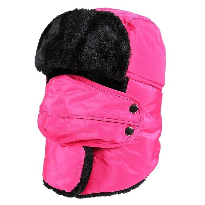 Gorro rosa neón para la nieve unisex