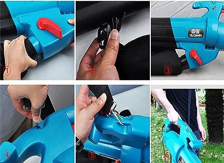 GBB&MYF Sopladora y trituradora de Engranajes de jardín, Bolsa de recolección de 45L de Gran Capacidad y Velocidad Variable, relación de Hojas rotas 15: 1, 3000W,Azul,B15mi: Amazon.es: Hogar