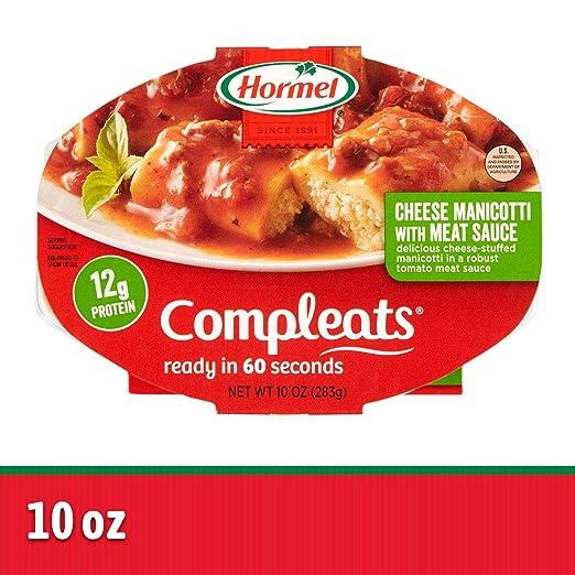 compra meglio moda più desiderabile taglia 40 Hormel Compleats Cheese Manicotti with Meat Sauce, 10 Ounce (Pack of 6)