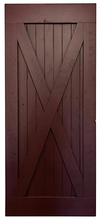 Amazon Com Red Barn Door Rough Sawn Pine X Style Painted