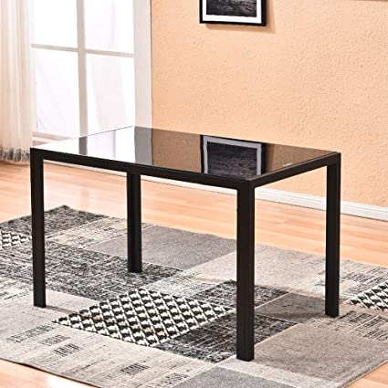 Amazon.com - Dining Table, Modern Glass Kitchen Table ...
