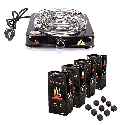 Ectxo acoplador de Shisha quemador de carbón Heat Up 1000 W PLACA Grabadora con carbón vegetal