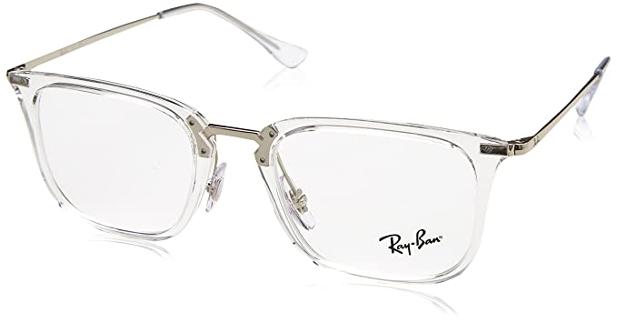 Rayban 0RX 7141 2001 50, Lunettes de Soleil Homme, Transparent  Amazon.fr   Vêtements et accessoires d610414c281b