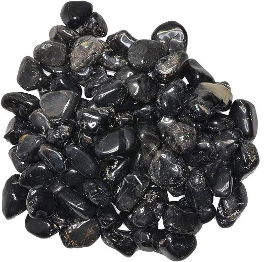 "Sz 3 Black Sardonyx Tumbled Gemstones Med 3//4/"""