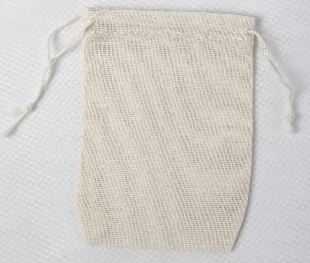 Amazon.com: Cotton Muslin Bags 2.75x4 Inch Double Drawstring 100 ...