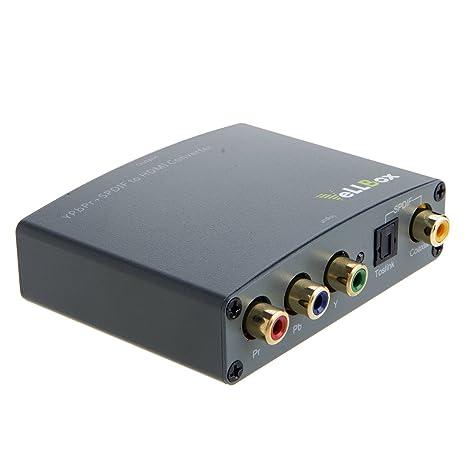 vellbox YPbPr + SPDIF a HDMI Converter, de componentes YPbPr Vídeo y Audio Digital SPDIF