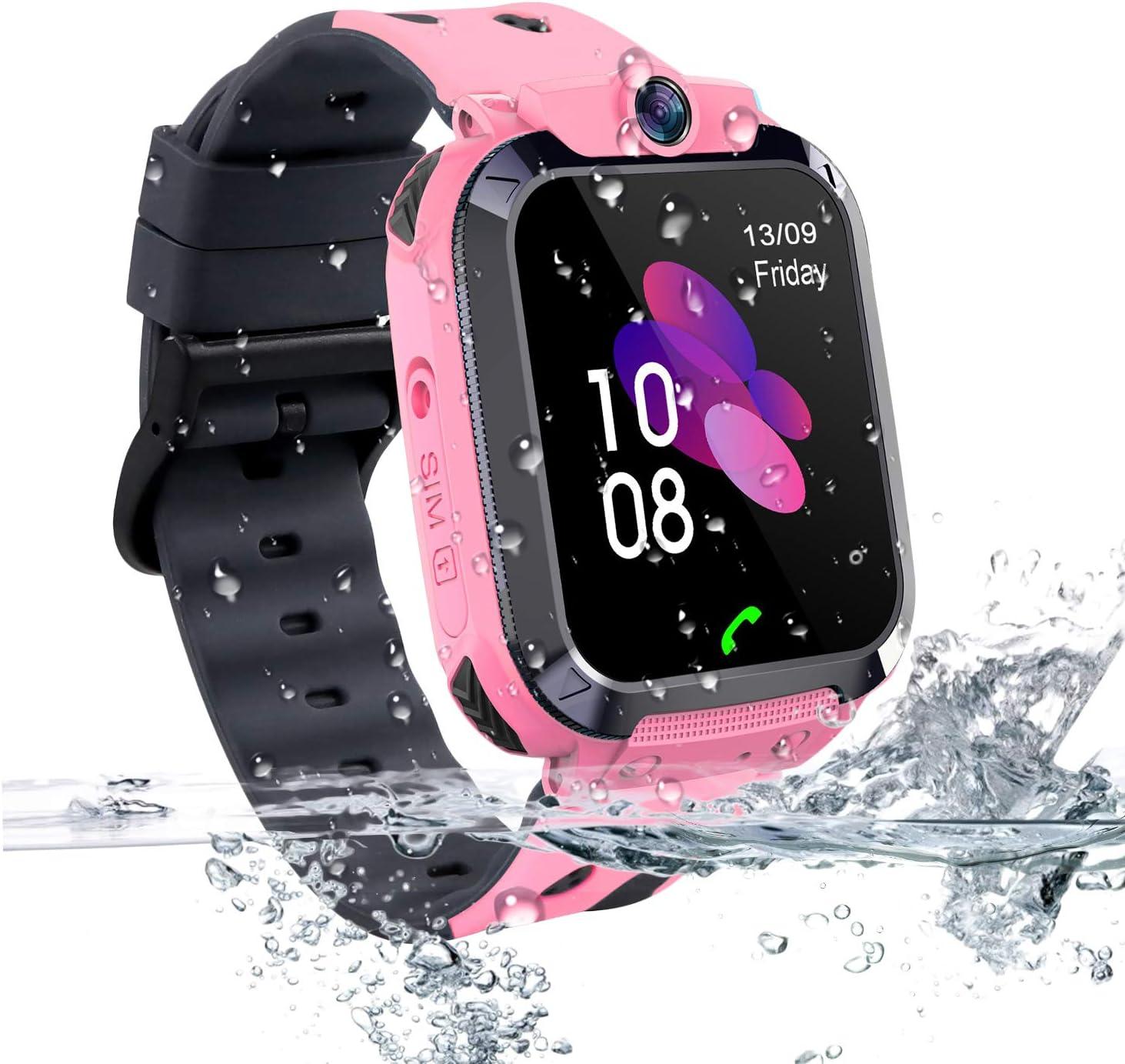 Vannico Smartwatch Niños, Reloj Localizador LBS Niños Impermeable ...