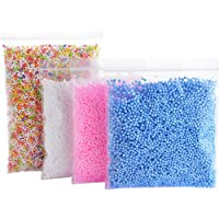 Tomtopp 30000pcs Mini Foam Balls Homemade Slime DIY Crafts Supplies Kid Party Decor (Color white blue pink)