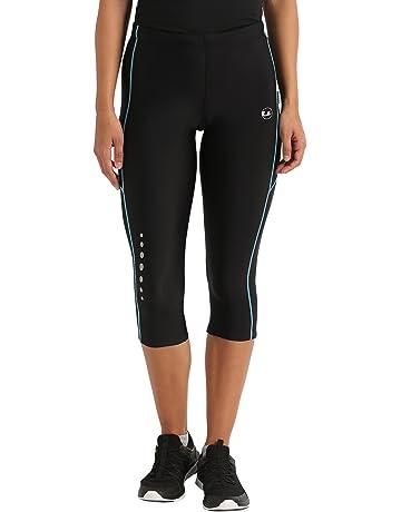more photos 141fa 1b173 Ultrasport pantalon de course femme, longueur 3 4 avec effet de compression  et fonction
