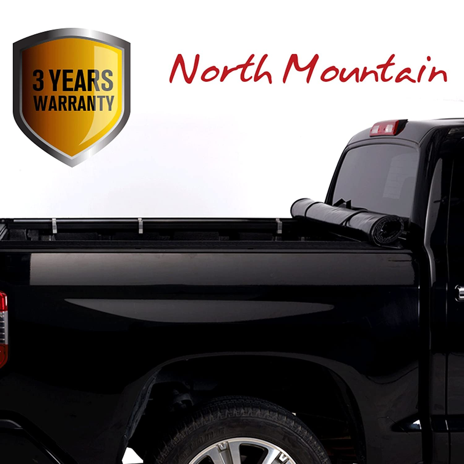 Clamp On No Drill Top Mount Assembly w//Rails+Mounting Hardware Fit 88-00 Chevy//GMC C10 C//K 1500//2500//3500 Pickup 6.5ft Fleetside Bed North Mountain Soft Vinyl Roll-up Tonneau Cover