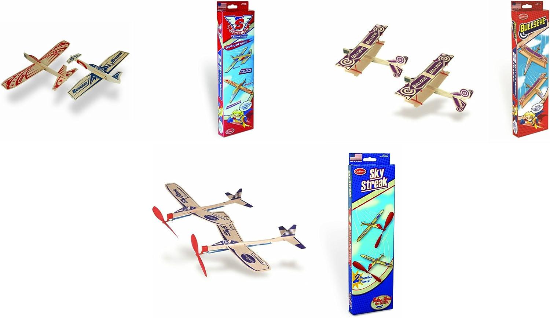 Guillow Balsa Wood Model Airplane Set Super Hero Design 4 Planes
