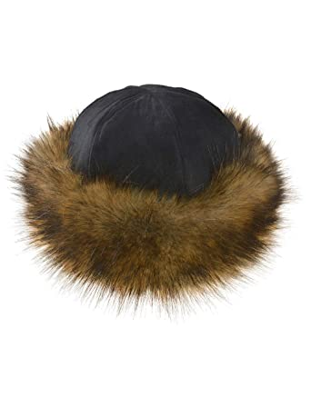 94b760b5a68 TEXTURE Ladies Women Lagenlook Faux Fur Band Suede Effect Mongolian Russian  Winter Hat Gift (Black Brown) at Amazon Women s Clothing store