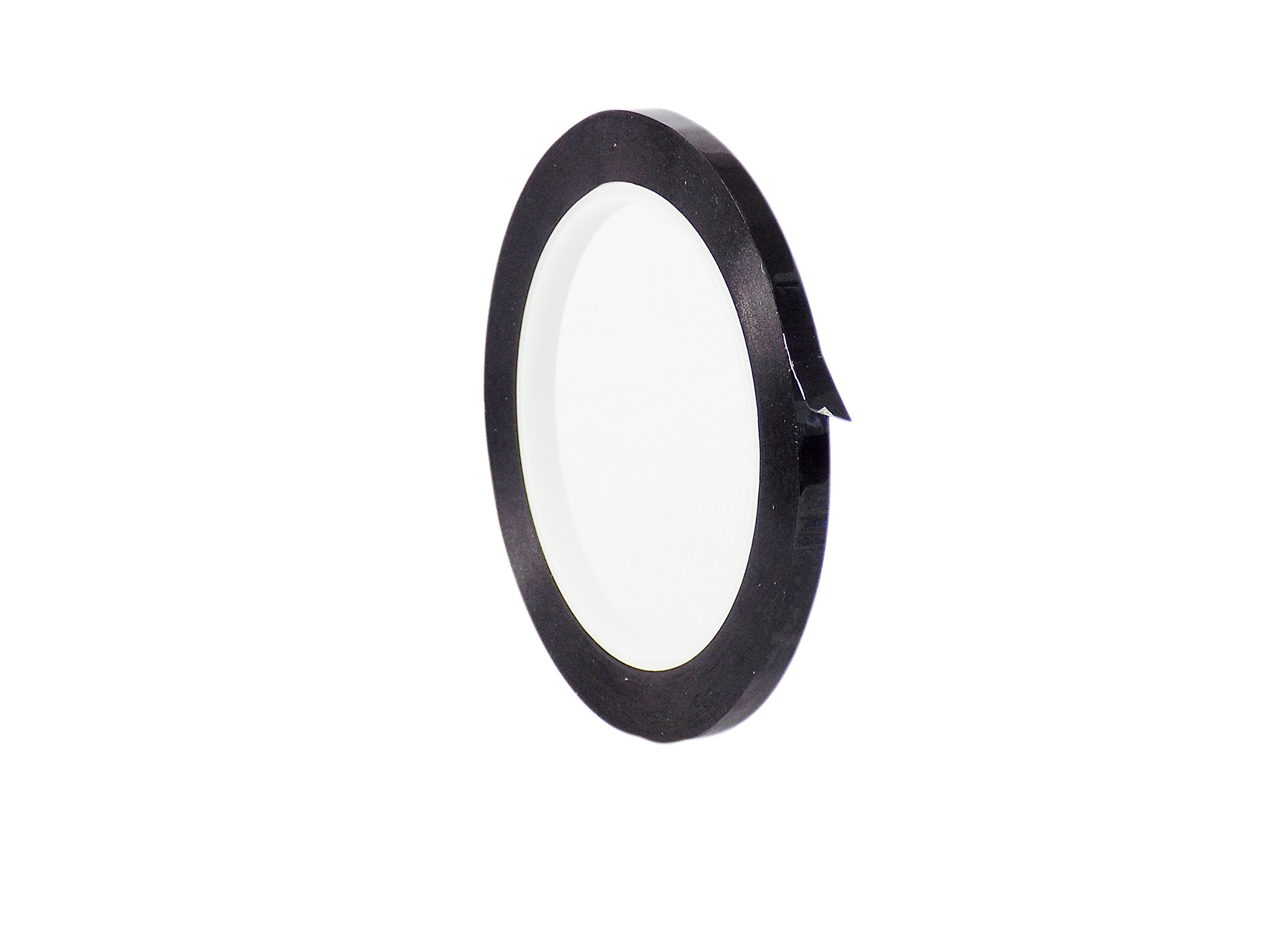 WOD MMYP-1 Black Metalized Polyester Mylar Film Tape with Acrylic Adhesive (Available in Multiple Colors & Sizes): 1/4 in. x 72 yds. Excellent Chemical and Thermal Stability.