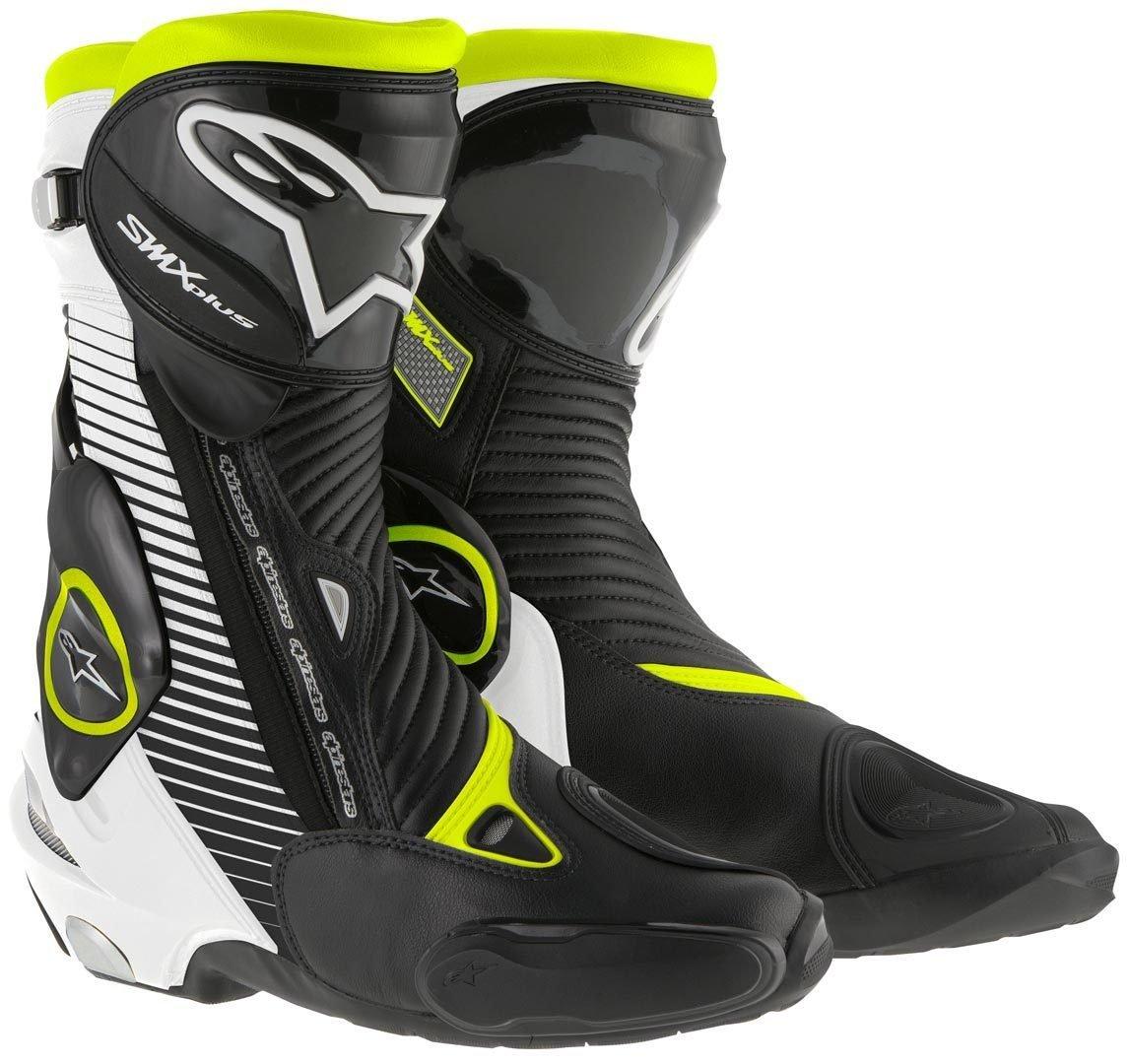 Alpinestars アルパインスター SMX Plus Boots 2015モデル ブーツ ブラック/ホワイト/イエロー 39(約25cm) B00XIR6YGQ