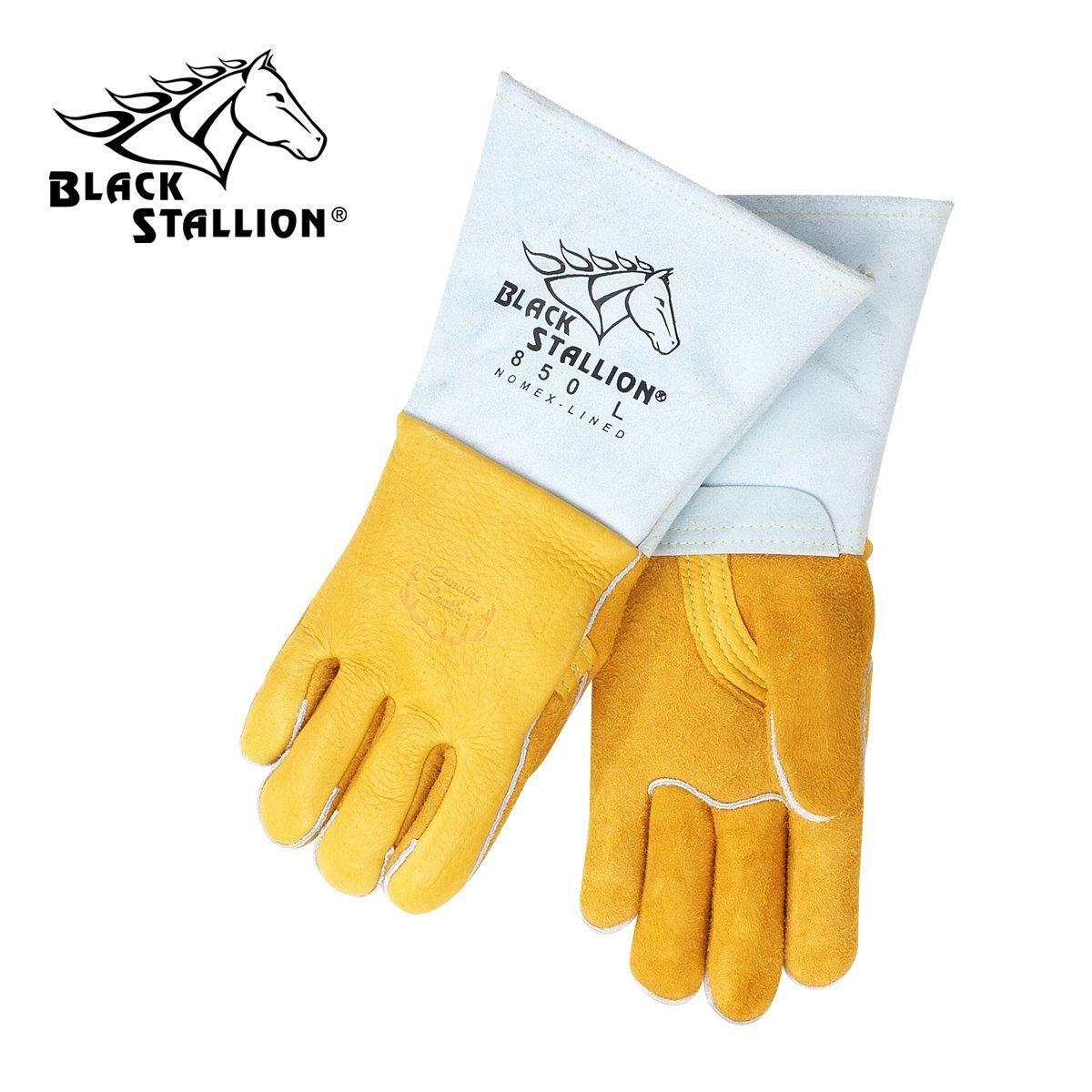 Size 2XLarge Revco Black Stallion 850-2XLarge Flame Resistant Nomex Lined Elkskin Stick Welding Gloves