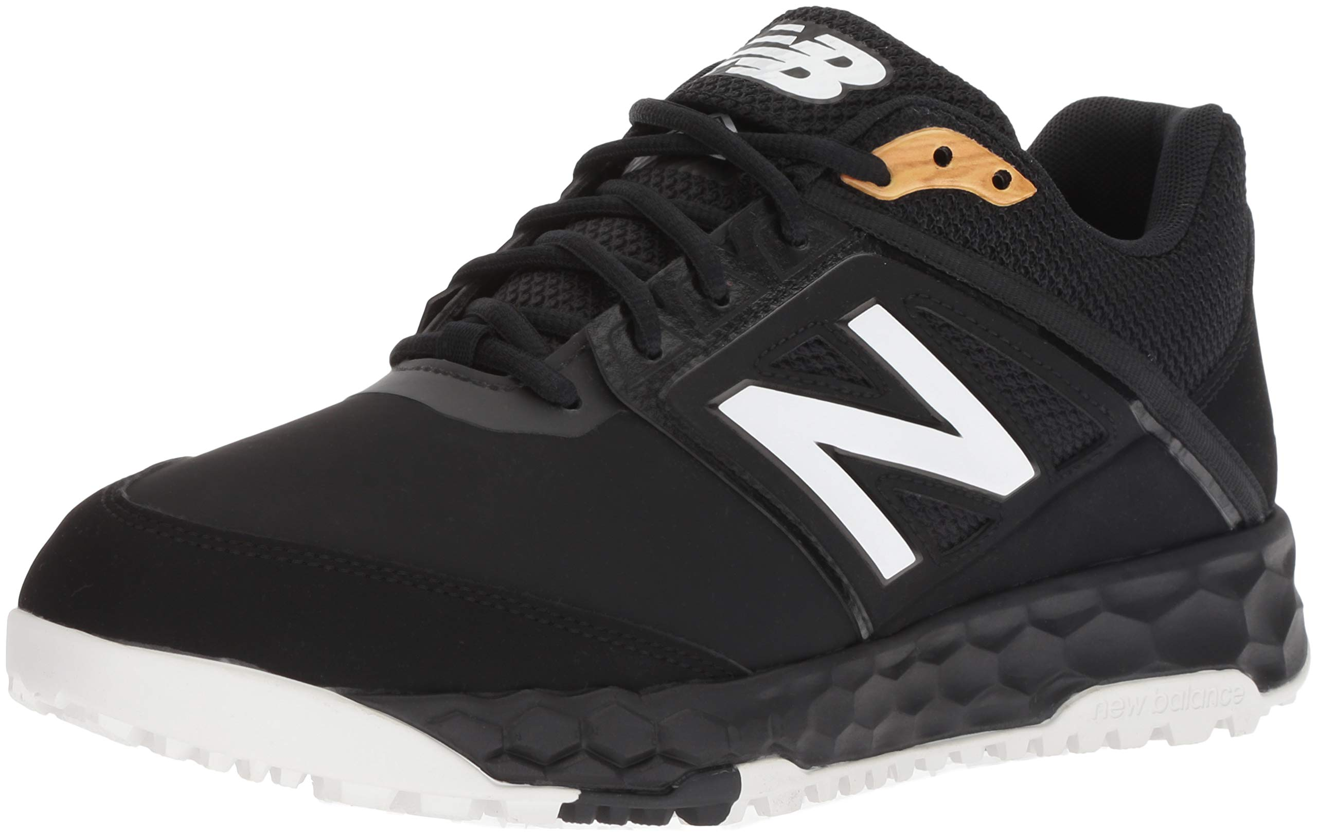 New Balance Men's 3000v4 Turf Baseball Shoe, Black, 5 D US