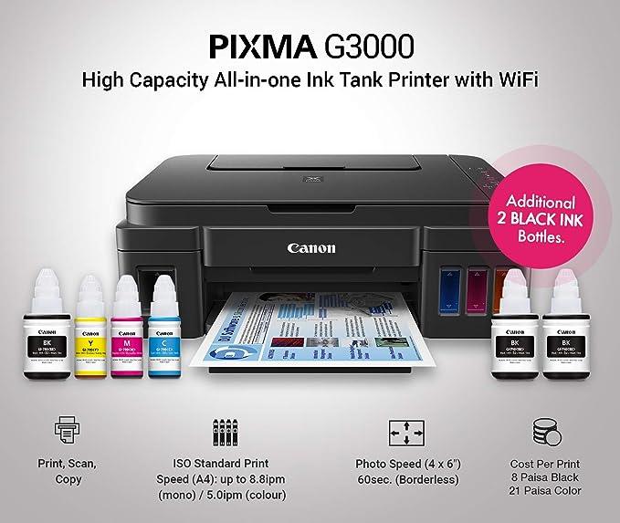 Canon PIXMA G3000 Multifuncional Inyección de Tinta 4800 x 1200 ...