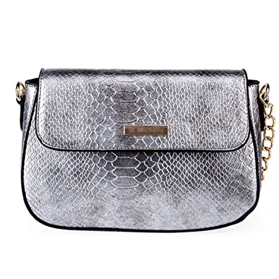 ad00a9bc6f Mily Women s Clutch Bag Messenger Shoulder Handbag Tote Bag Purse-Snakeskin  clutch Envelope (B