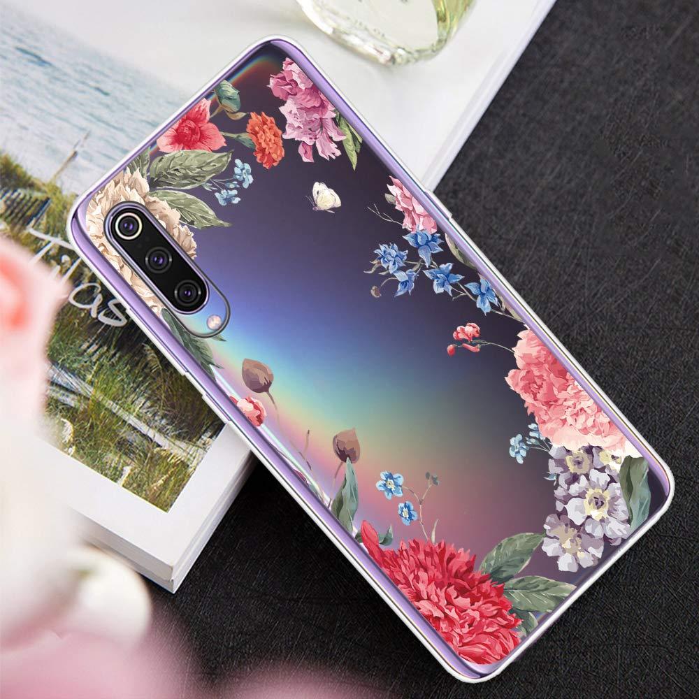 12eve Xiaomi Mi 9 H/ülle Soft Silikon D/ünn Transparent H/üllen Durchsichtige TPU Schutzh/ülle Case Weiche Handyh/ülle f/ür Xiaomi Mi 9 SE
