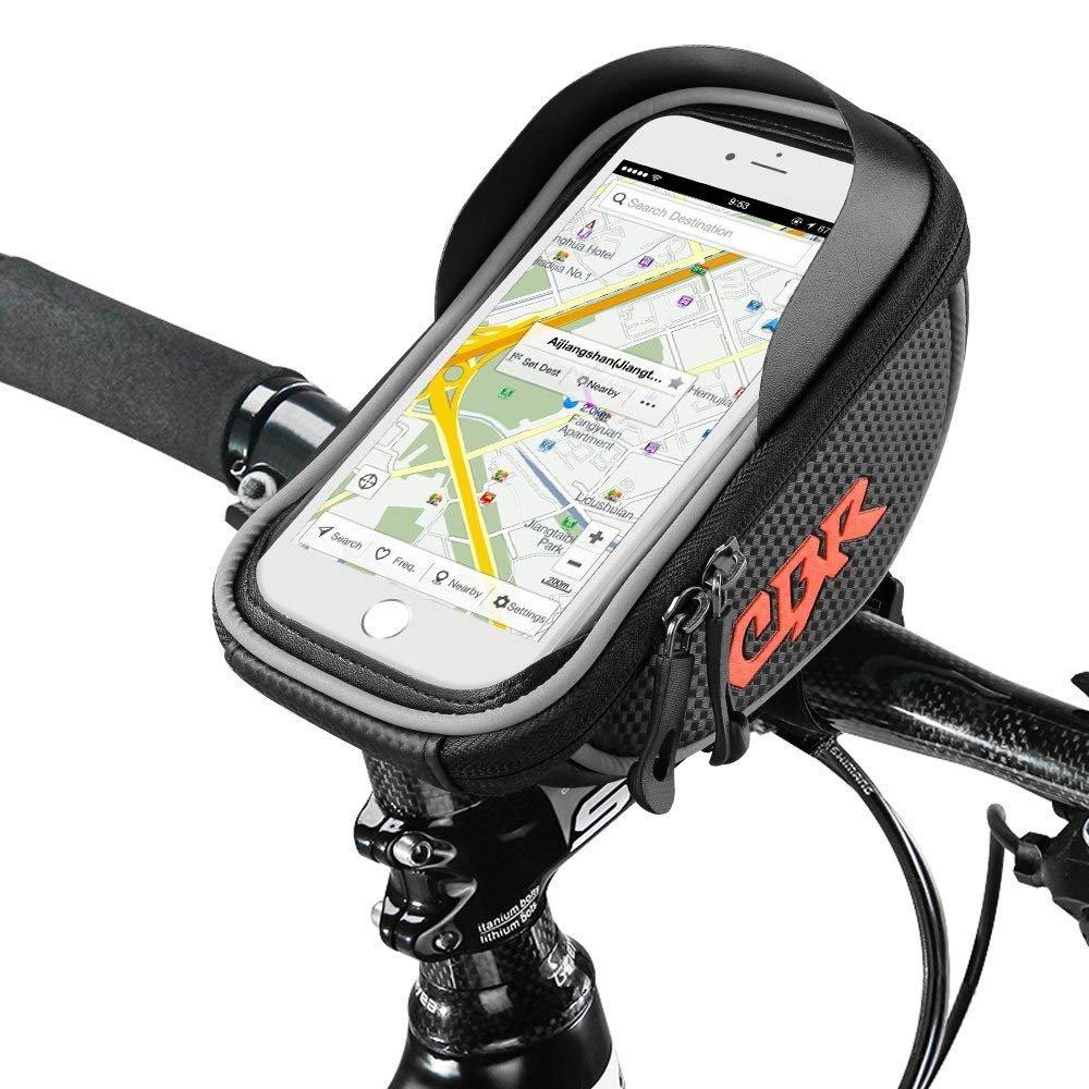 バイクバック バイクポーチ, Furado バイクフレームバック Cycling Pannier Top Tube 防水バック ハンドルバーバック, 携帯ホルダーバイクポーチ Bicycle Bag Touch Screen for Smart Phone Below 6 inch [並行輸入品]   B07QBCWGSJ
