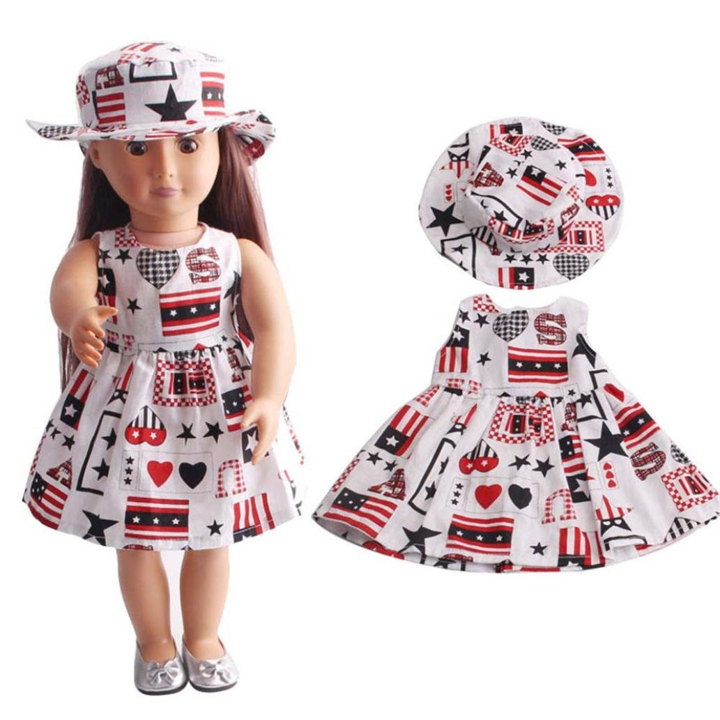 WensLTD Clearance! Skirt&Hat for 18 inch Our Generation American Girl Doll (B)