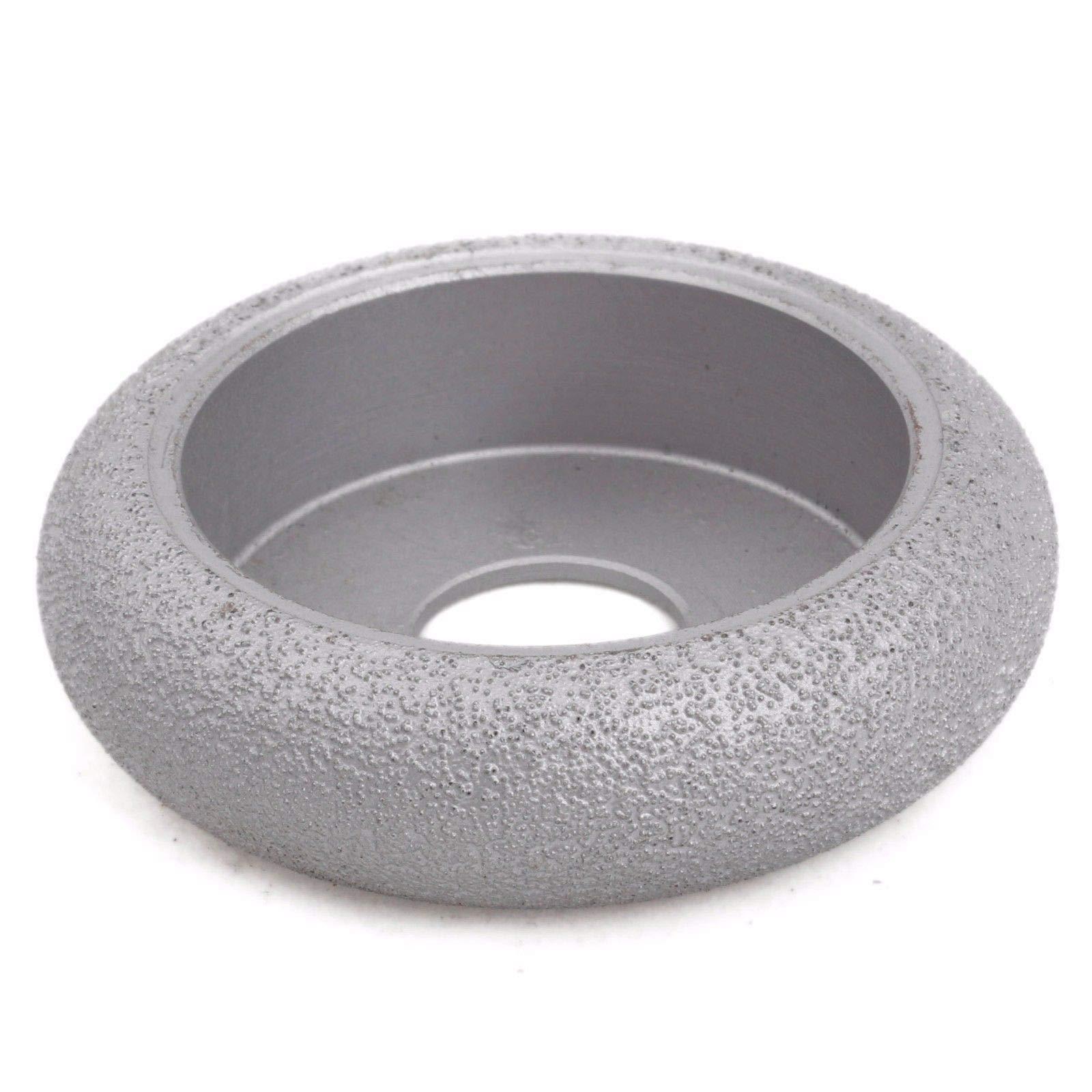Maslin 3'' inch Grit 60 Width 25 mm Diamond Grinding Wheel Convex Curve BRAZED for Stone ILOVETOOL