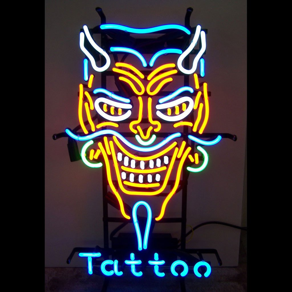 Tattoo Neon Sign 24''x20''Inches Bright Neon Light for Business Beauty Spa Salon Shop Store