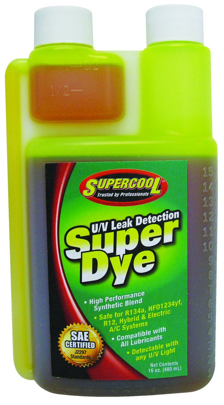 TSI Supercool 24056 Yellow SAE Certified Super Dye, 16 oz (Treats 64-Vehicles - Self Measure Bottle) by TSI Supercool