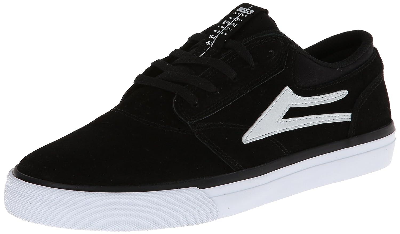 Lakai Men's Griffin Skate Shoe 10.5 D(M) US|Black/White Suede