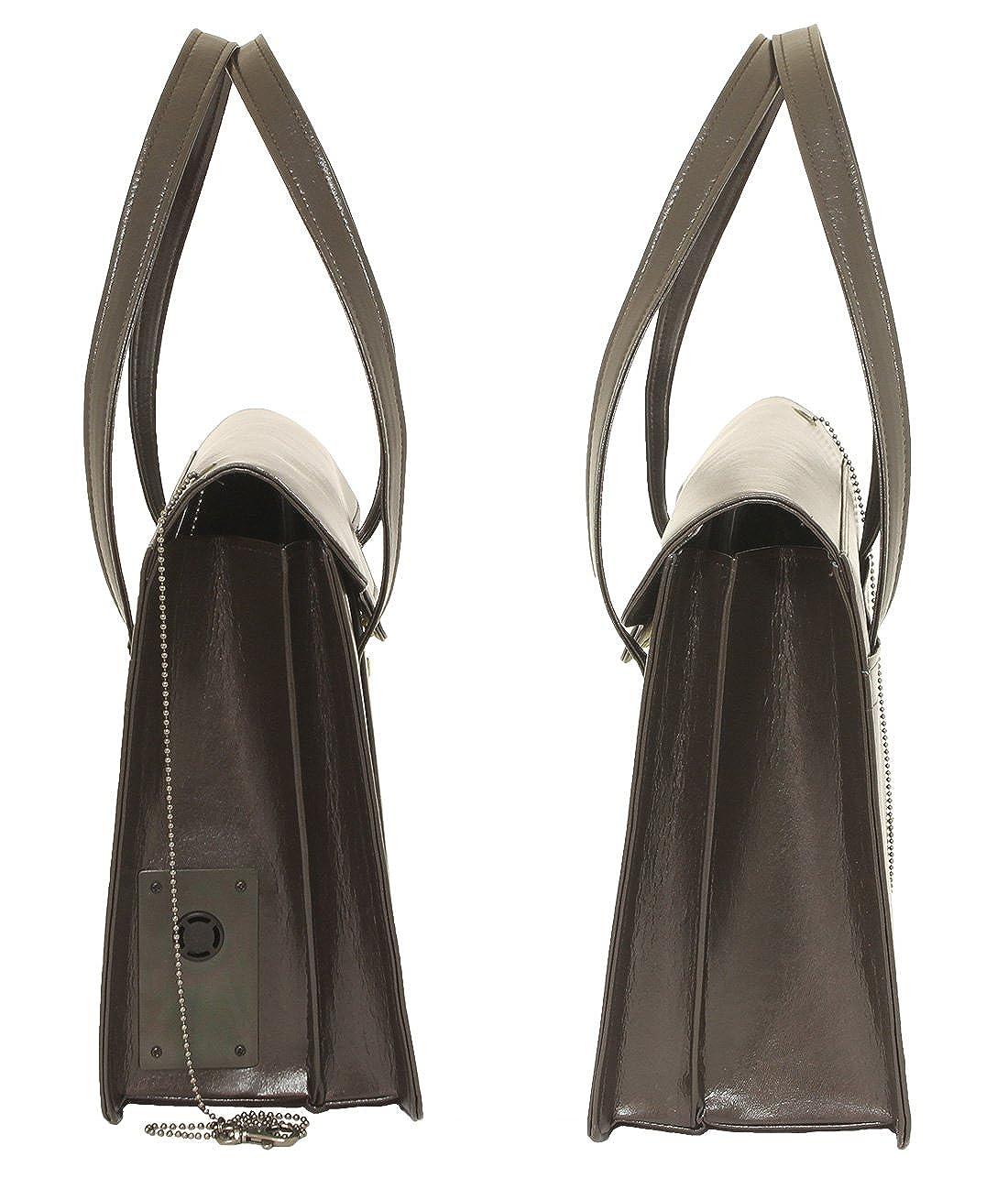 29fb22a4cce7 Amazon | S-600B 防犯ブザー付 渉外鞄レディースビジネスバッグ 被せ式ブリーフケース 豊岡製 | SE(三栄産業株式会社) | バッグ