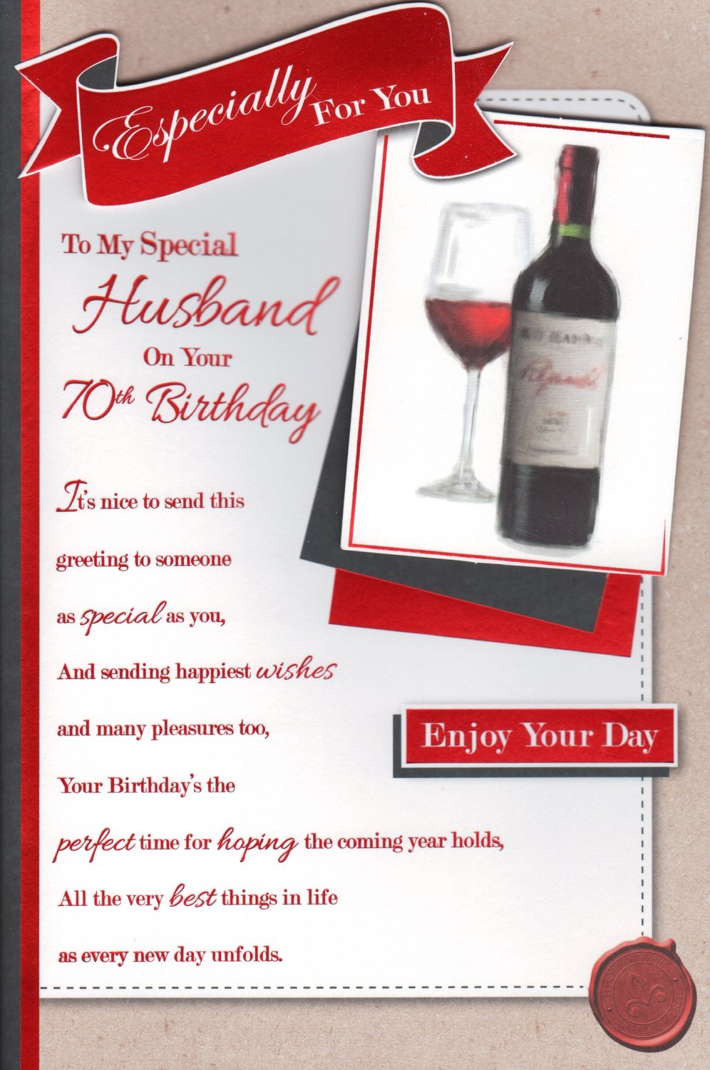 Husband 70th birthday card especially for you to my special husband 70th birthday card especially for you to my special husband on your 70th birthday amazon garden outdoors bookmarktalkfo Images
