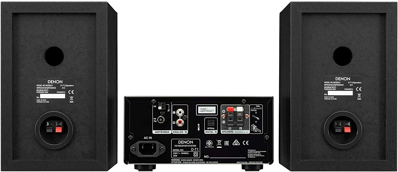 Microcadena con Lector CD y Bluetooth Denon D-T1 Color Negro