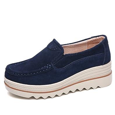 Amazon.com: pingye Mujer Plataforma Zapatillas Slip On ...