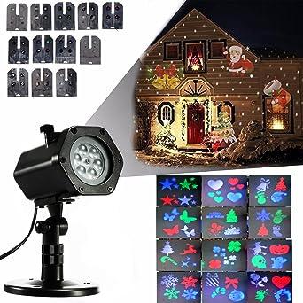 LED Efecto Luz, LED Lámpara de luces con 12 colores, 4 diseños ...