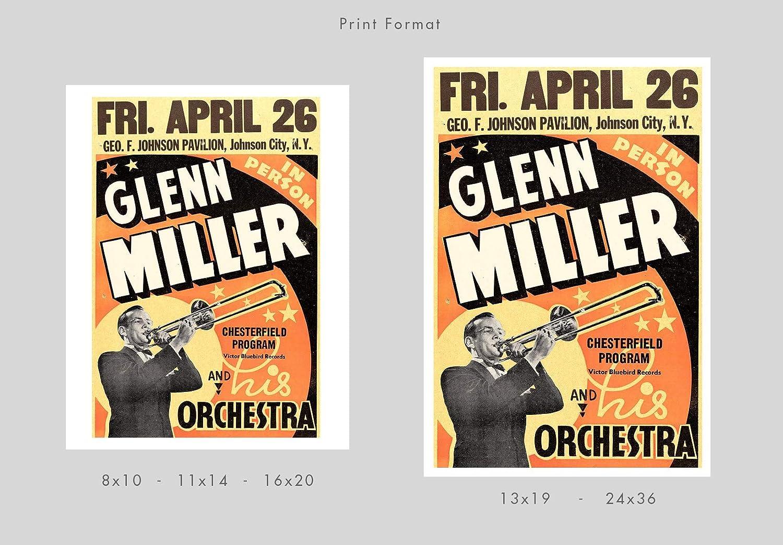 Glenn Miller 1940 Concert Poster Print by delovely Arts