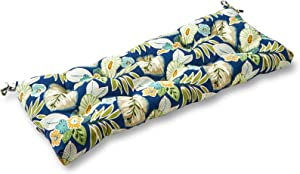 South Pine Porch AM5812-MARLOW Marlow Blue Floral 51-inch Outdoor Bench Cushion