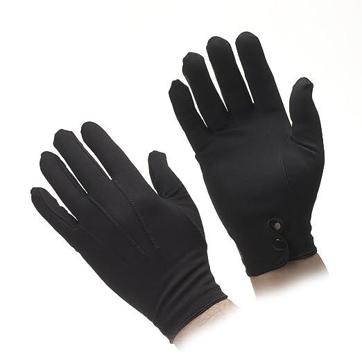 cd462bd7a130c Amazon.com: Men's Nylon Stretch Gloves (Black): Clothing