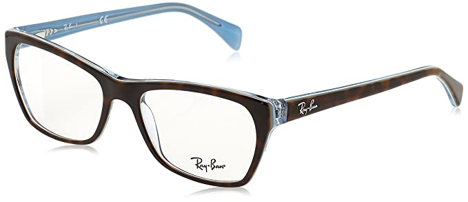 7350ce9ecf Image Unavailable. Image not available for. Color  Ray-Ban Women s RX5298  Eyeglasses Top Havana On Havana Blue 53mm