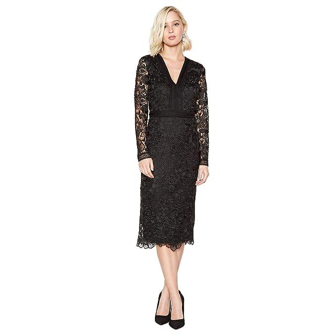 aba4b835bfa Debut Womens Black Lace Midi Pencil Dress  Debut  Amazon.co.uk  Clothing