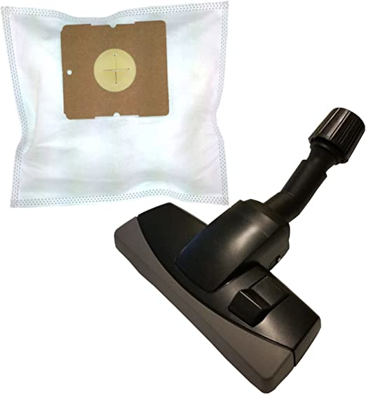 20 Bolsas de tela + aspiradora umschaltbare universal Boquilla con ...