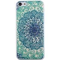 Malloom®Para iPhone5C tótems verdes vendimia patrón floral Fundas