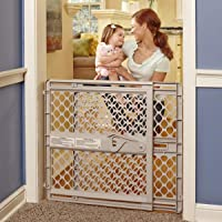 "North States 42"" Wide Supergate Ergo Baby Gate: Easy-fit and Adjustable. Pressure or Hardware…"