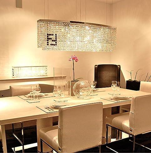 Amazon Siljoy Modern Crystal Chandelier Dining Room Rectangular Amazing Crystal Chandelier Dining Room