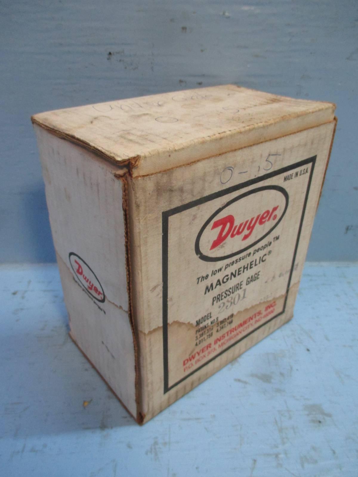 Dwyer® Magnehelic® Differential Pressure Gage, 2301, Zero Center Range: .50-0-.50'' w.c. by Dwyer