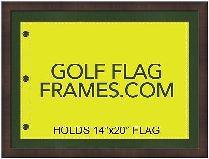 Amazon.com - 17 x 23 Golf Flag Frame; Walnut Frame 7351, Green Mat ...