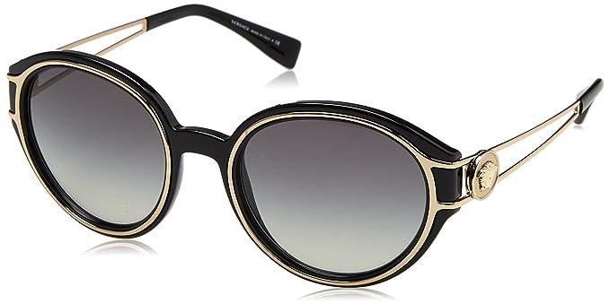 3dc2e99f9668b Amazon.com  Versace Women s VE4342 Black Pale Gold Grey One Size ...