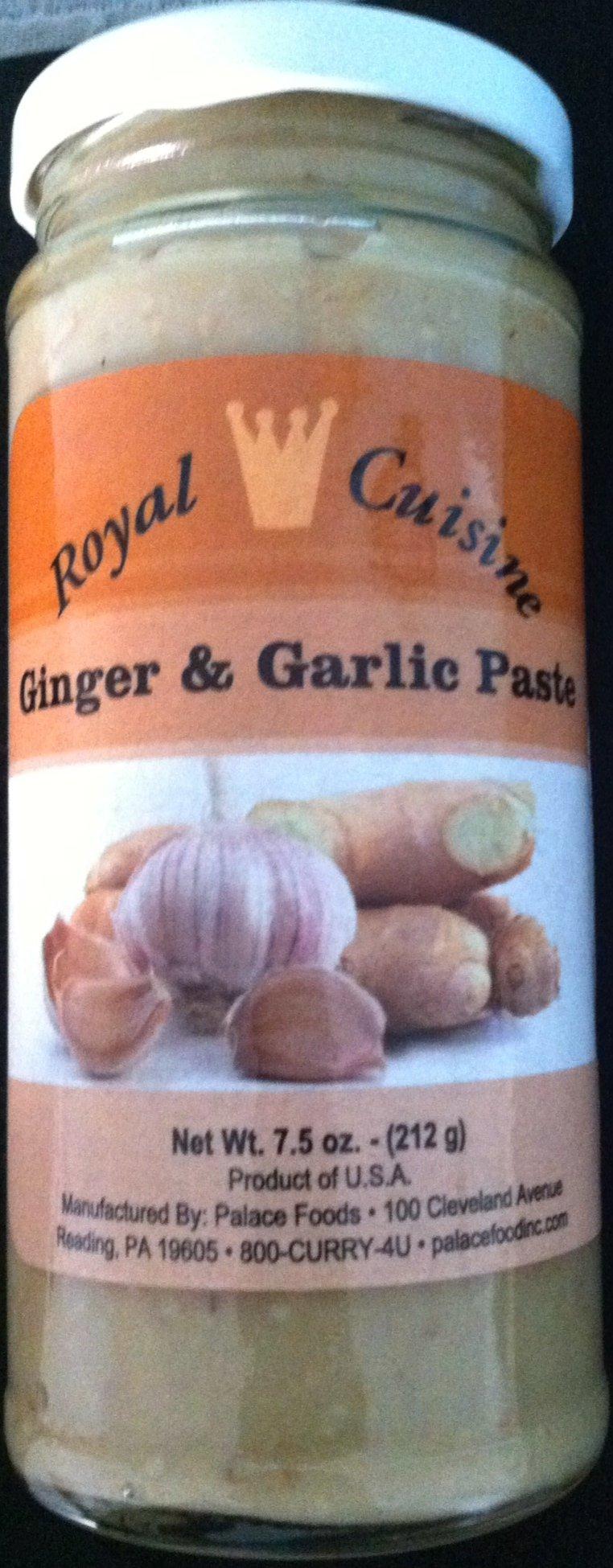 Royal Cuisine Ginger and Garlic Paste 7.5 Oz 3-Pack-Vegan by Royal Cuisine Ginger and Garlic Paste 7.5 Oz 3-Pack-Vegan